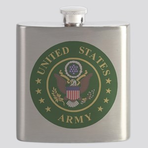 ArmyLogoToMatchStripes2 Flask