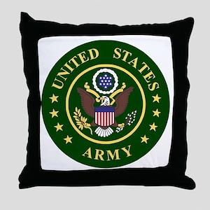 ArmyLogoToMatchStripes2 Throw Pillow