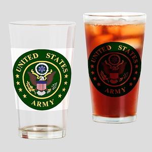 ArmyLogoToMatchStripes2 Drinking Glass