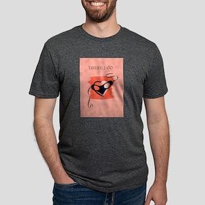 Vintage Masked Heart Mens Tri-blend T-Shirt