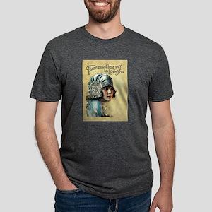 Vintage Art Girl In Bonnet Mens Tri-blend T-Shirt