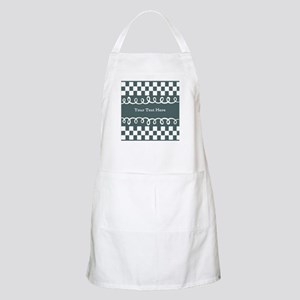 Custom Text Decorative Checkered Apron