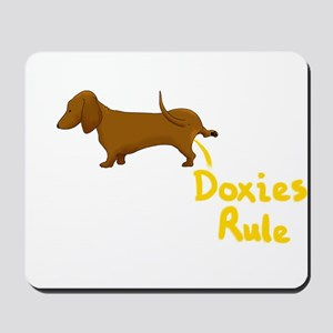 Dachshund Peeing Doxies Rule Mousepad