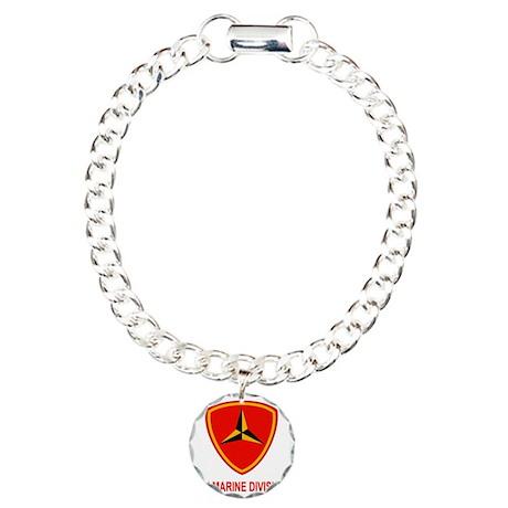 USMC3rdMarineDivisionTee Charm Bracelet, One Charm