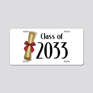 Class of 2033 Diploma Aluminum License Plate