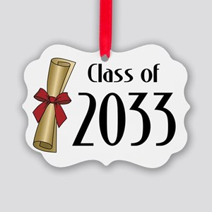 Class of 2033 Diploma Picture Ornament