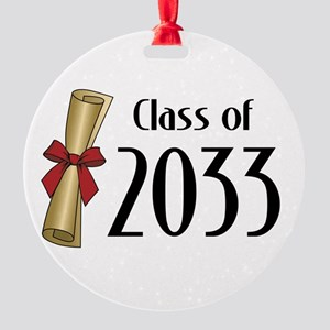Class of 2033 Diploma Round Ornament