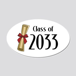 Class of 2033 Diploma 20x12 Oval Wall Decal