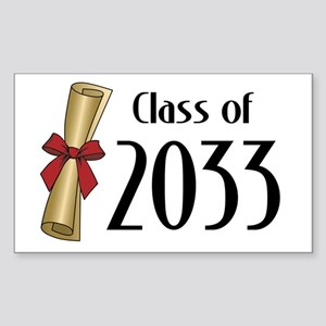 Class of 2033 Diploma Sticker (Rectangle)