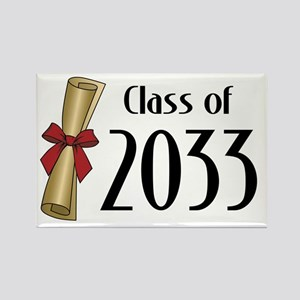 Class of 2033 Diploma Rectangle Magnet
