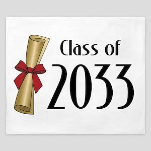 Class of 2033 Diploma King Duvet