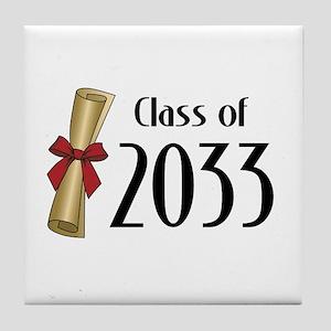 Class of 2033 Diploma Tile Coaster