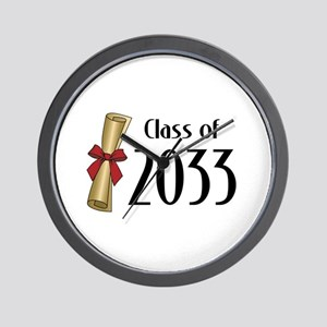 Class of 2033 Diploma Wall Clock