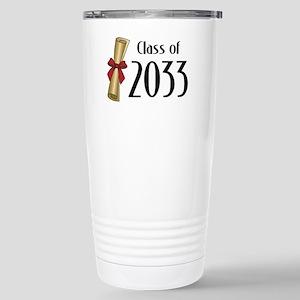 Class of 2033 Diploma Stainless Steel Travel Mug