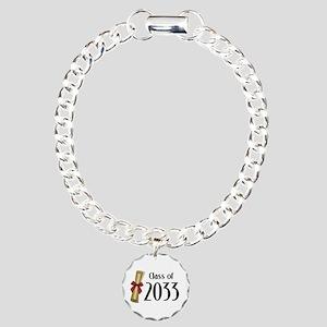 Class of 2033 Diploma Charm Bracelet, One Charm