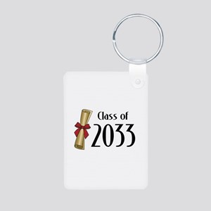 Class of 2033 Diploma Aluminum Photo Keychain