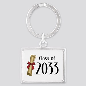 Class of 2033 Diploma Landscape Keychain