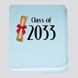 Class of 2033 Diploma baby blanket