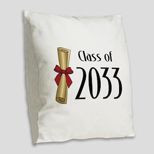 Class of 2033 Diploma Burlap Throw Pillow