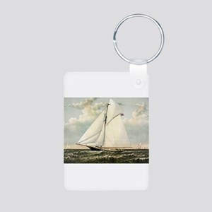 Yacht Gracie of New York - 1882 Aluminum Photo Key