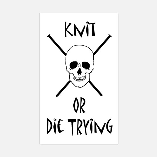 Gilmore Girls Knit or Die Rectangle Decal