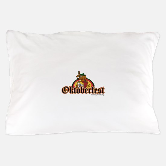 Oktoberfest Dachshund and Accordian Pillow Case