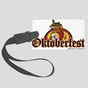 Oktoberfest Dachshund and Accordian Luggage Tag