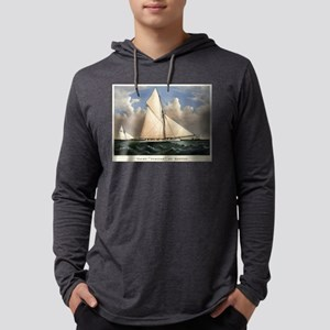 Yacht Puritan of Boston - 1885 Mens Hooded Shirt
