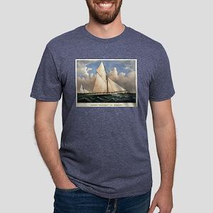 Yacht Puritan of Boston - 1885 Mens Tri-blend T-Sh