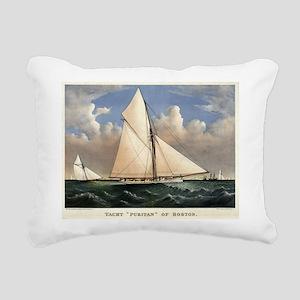 Yacht Puritan of Boston - 1885 Rectangular Canvas
