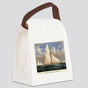 Yacht Puritan of Boston - 1885 Canvas Lunch Bag