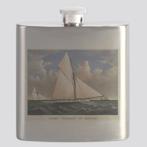 Yacht Puritan of Boston - 1885 Flask