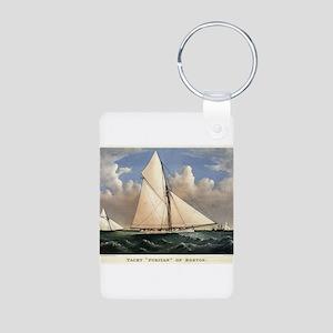 Yacht Puritan of Boston - 1885 Aluminum Photo Keyc
