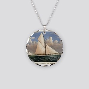 Yacht Puritan of Boston - 1885 Necklace Circle Cha