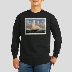 Yacht Puritan of Boston - 1885 Long Sleeve Dark T-
