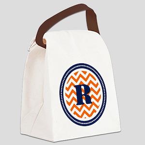 Orange & Navy Canvas Lunch Bag