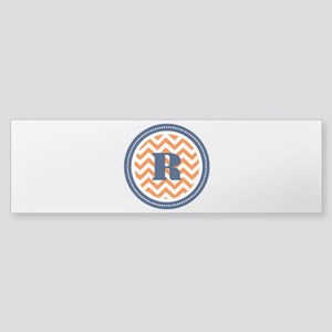 Orange & Navy Sticker (Bumper)