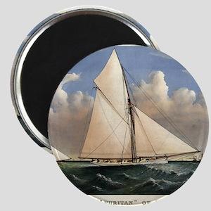 Yacht Puritan of Boston - 1885 Magnet