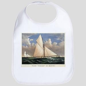 Yacht Puritan of Boston - 1885 Cotton Baby Bib