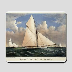 Yacht Puritan of Boston - 1885 Mousepad