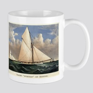 Yacht Puritan of Boston - 1885 11 oz Ceramic Mug