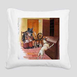 The Cupboard Was Bare, Old Mo Square Canvas Pillow