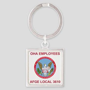 AFGELocal3610Teeshirt4X Square Keychain