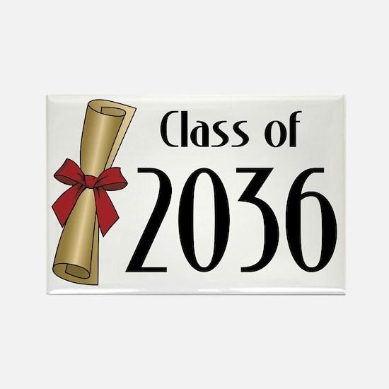 Class of 2036 Diploma Rectangle Magnet