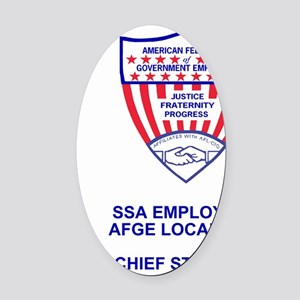 AFGE-Local3129PocketCrestChiefStew Oval Car Magnet