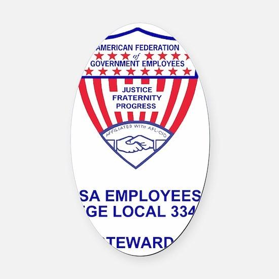 AFGE-Local3343PocketCrestSteward.g Oval Car Magnet
