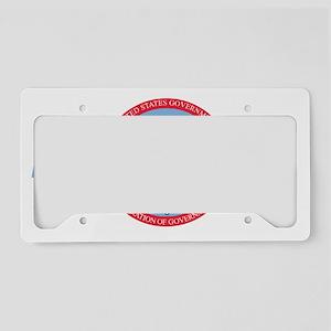 AFGE1122BlueCap2 License Plate Holder