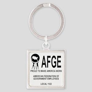 AFGE1122Shirt1Back Square Keychain