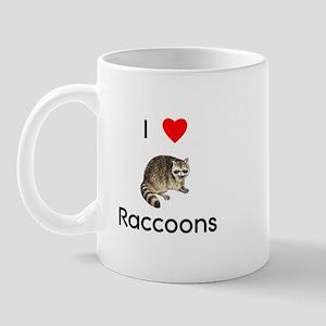 I Love Raccoons Mug