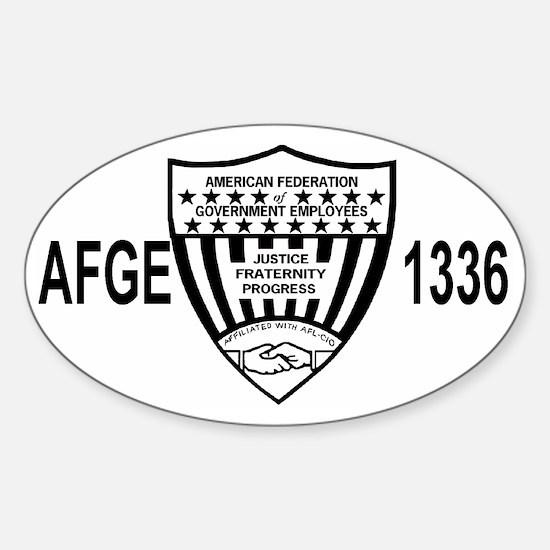 AFGE1336BlackCap.gif Sticker (Oval)